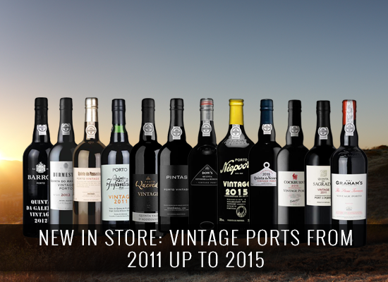 NEW IN STORE: Vintage Ports from 2011 up to 2015