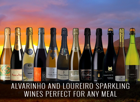 Vinho Verde: Alvarinho and Loureiro sparkling wines perfect for any meal