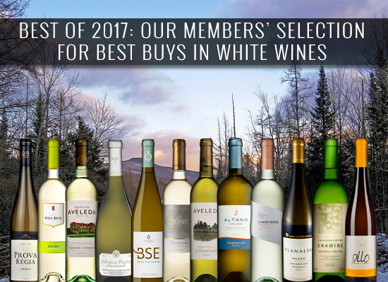 BEST OF 2017: Our members' selection for Best Buys in white wines