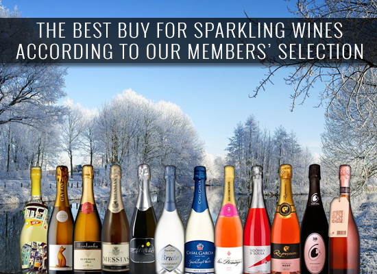 THE BEST BUY 2017 for Sparkling wines according to our members' selection
