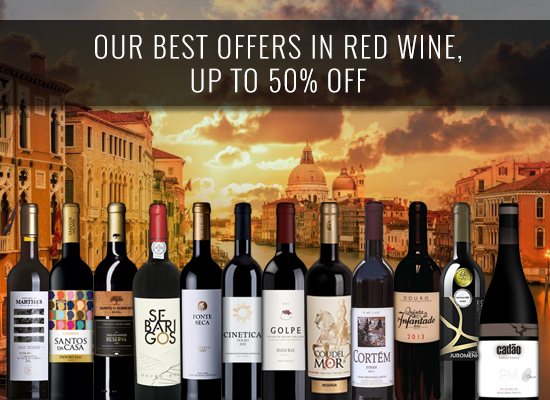 Our best offers in red wine, UP TO 50% OFF