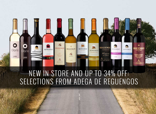 NEW IN STORE AND UP TO 34% OFF: Selections from Adega de Reguengos