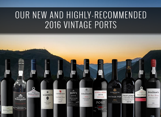 Our new and highly-recommended 2016 Vintage Ports