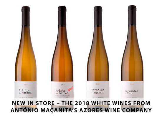 NEW IN STORE: The 2018 white wines from António Maçanita's Azores Wine Company